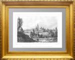 Троице-Сергиевский монастырь в 63 верстах от Москвы. 1838г. Кадоль. N5. Антикварная гравюра