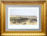 Старинный вид Севастополя с тыла английских батарей. Симпсон. 1855г. Антикварный подарок