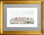 Дом Лазарева в Москве (посольствo Армении). 1839г. Антикварная гравюра, акварель