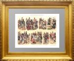 1897г. История военной униформы 1 (XVII — XVIII веков). Антикварная хромолитография