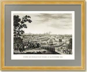 .Наполеон перед Москвой. Гравюра. 1817г. Музейный экземпляр. Антикварный VIP подарок