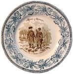 1883 Декоративная тарелка  Амурский казак и черкес