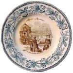 1883 Декоративная тарелка  Иордань на Неве в праздник Крещения
