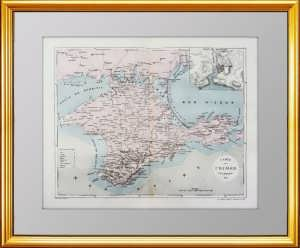 Карта Крыма. Антикварный подарок