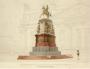 Монферран. Памятник Николаю I. Смешанная техника