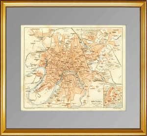 Старинный план Москвы можно купить в Петербургской Галерее Антикварных Подарков