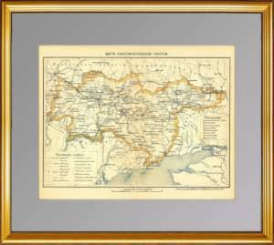 Карта Екатеринославской губернии