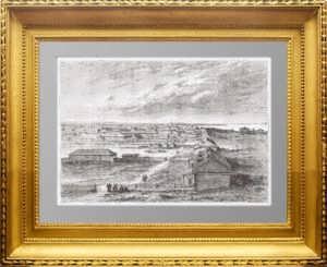 Благовещенск. 1880г. Старинная гравюра - антикварный подарок