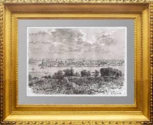 Иркутск. 1880г. Старинная оригинальная гравюра - антикварный подарок