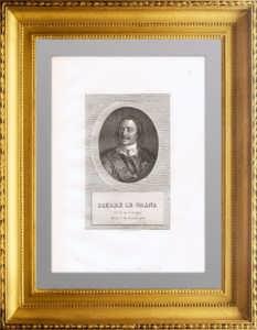 Петр I . Портрет. 1825г. Каравак/Массар. Антикварная гравюра.