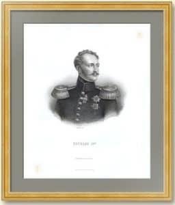 Николай I. Прижизненный портрет. 1855г. Старинная гравюра - антикварный подарок