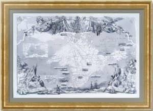 Крым и смежные побережья. 1856г. Лист 54х80! Старинная карта
