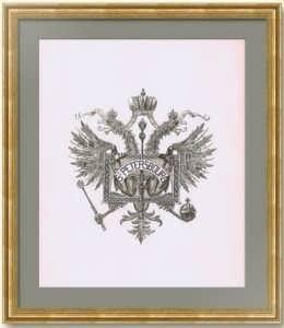 Санкт-Петербург. Герб города. 1892г. Старинная гравюра