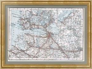 Железные дороги Российской империи. 1901г. Санкт-Петербургская губерния.  Section 1