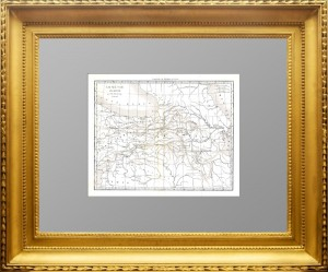 Старинная карта античной Армении. 1838 г. Дювотне