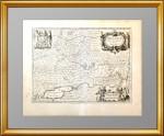 """Старинная карта """"Южная часть Московии"""". 1656г. Исаак Масса. Кабинетный формат"""