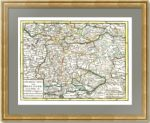 Южная часть Московии. Малороссия, казачьи территории. Кейзер. 1747 г.
