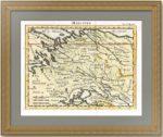 Московия. Старинная карта. Николя Сансон. 1752 г. Ручная раскраска