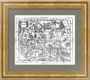 Старинная миниатюрная карта Московии. 1787г. Буфье