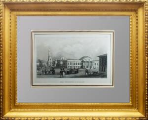 Москва. Арсенал Московского Кремля (Цейхгауз). 1836г. Старинная гравюра, антикварный подарок