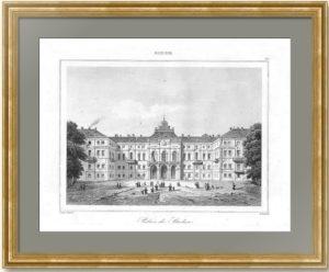 Стрельна. Большой (Константиновский) дворец. 1838г. Стильный антикварный подарок