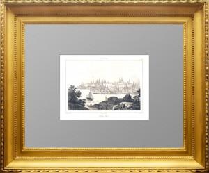 Казань №1. Данвин. 1838г. Антикварная гравюра