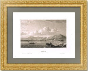 Крым. Керчь. 1841г. Старинная гравюра.