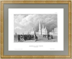 Колокольня Ивана Великого. 1848г. Викерс/Маер. Старинная гравюра