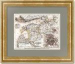 Финский залив с планами Санкт-Петербурга и Царского села. 1849г. Старинная карта