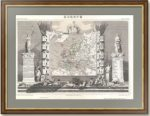 Старинная карта Европы. 1852г. Левассёр. Антикварный VIP подарок руководителю в кабинет