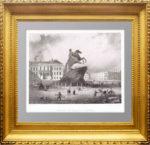Памятник Петру I или Медный всадник. 1853г. Старинная гравюра - антикварный подарок