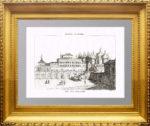 Москва. Теремной дворец. 1839г. Дюрфельдт/Булемьер. Антикварная гравюра