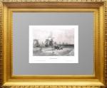 Астрахань. Маер. 1841г. Антикварная гравюра