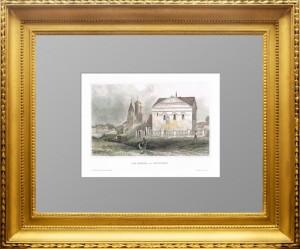 Углич Ярославской области. Угличский Кремль. 1860г. Старинная гравюра