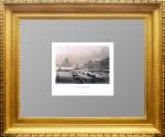 Ст. Петербург. Сенат и Исаакий. Акварельная раскраска. Лешар.1853г.