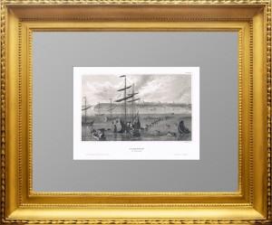 Таганрог.1841г. Вилльманн. Старинная гравюра