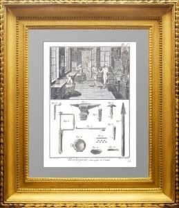 Искусство создания часов.  Дидро. 1772г. Пл. 1. Сборочный цех и инструменты. ВИП подарок