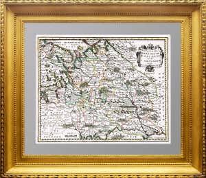 Владения Великого Князя Московии... 1719 г. Шике'. Старинная карта