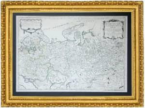 Россия в Европе и Азии. 1762г. Антикварная карта - элитный подарок чиновнику