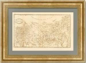 Российская империя от Киева до Берингова пролива. 1818г. Рассель. Антикварная карта