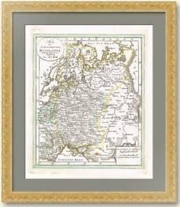 """Старинная антикварная карта """"Европейская Россия"""". 1820г. Вальх. Музейный экземпляр"""