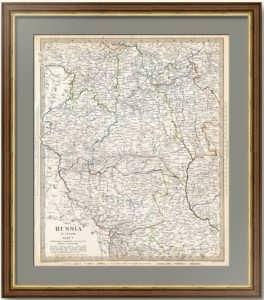 Вильнюс, Гродно, Волынь, Подолье, Минск, Киев, Чернигов, Смоленск. 1835г. Старинная карта