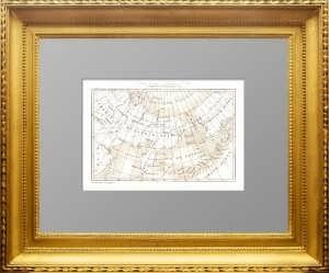 Дальний Bосток и американская Россия (Аляска). 1838г. Дювотне. Антикварная карта