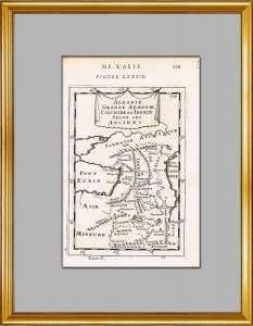 Кавказ Античный. Армения, Колхида, Иберия, Дагестан, Азербайджан. 1683г. Старинная карта