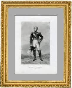 Александр I. Антикварный портрет императора. Жерар. Старинная гравюра как ВИП подарок