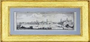 Нарва и Ивангород. Антикварная редкая гравюра. Мериан. 1652г. ВИП подарок