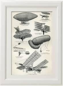 Воздухоплавательные аппараты XIX века. 1886 г. Антикварный подарок лётчику