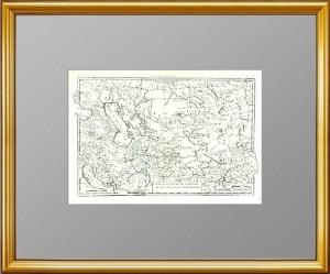 Средняя Азия, Казахстан, Кавказ, Персия, Тибет. 1780г. Бонне