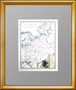 Старинная карта России  в Европе.(2) 1789г.  Петербургская Галерея Антикварных Подарков