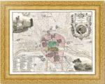 План Парижа в границах 1223 года. Vuillemin. 1860г. Старинная гравюра